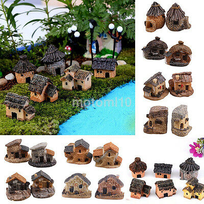 Vintage Mini Fairy Garden Miniature House Craft Micro Landscape Ornament Decor