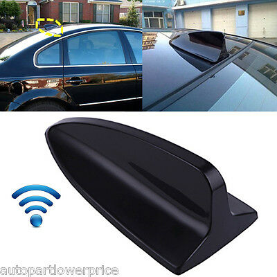 Black Universal Auto Car Roof Radio AM/FM Signal Shark Fin Style Aerial Antenna