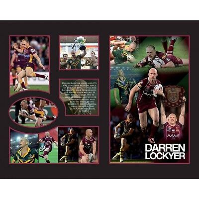 New Darren Lockyer Brisbane Broncos Limited Edition Memorabilia Framed