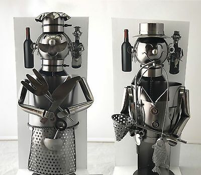 Decorative Metal Bottle Holder Creative Gift Wine Bar Kitchen Storage Decor