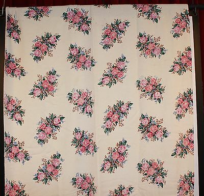 SINGLE 1950s CURTAIN. HEAVY COTTON