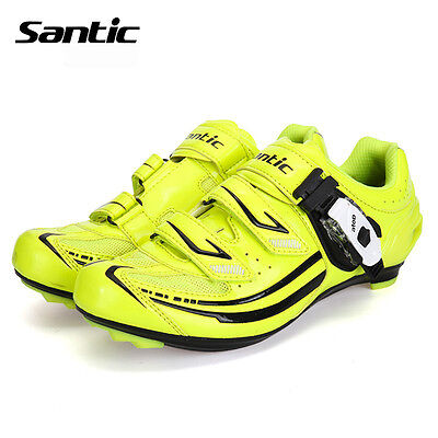 Santic 2017 Women Cycling Shoes Breathable Cycling Lock Cleated Shoes Yellow