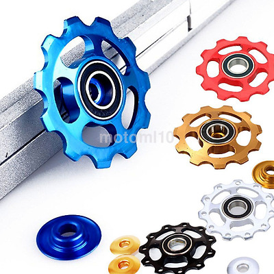 2* 11T Bike Bearing Derailleur Jockey Wheel Pulley for Shimano Sram 8/9/10 Speed