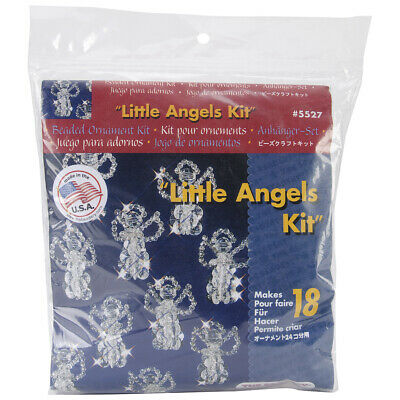 """Beadery Holiday Beaded Ornament Kit-Little Angels 2.5"""" Makes 18"""