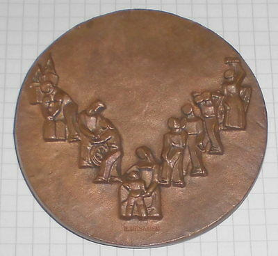 bronze medaille alt deutsche bundesbank relief  räsänen 1948 1968 bank top deko