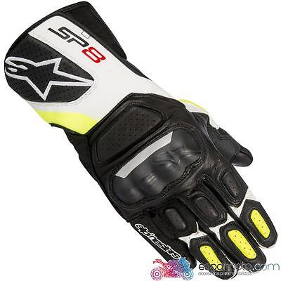 Guantes ALPINESTARS SP-8 V2 BLACK / WHITE / YELLOW FLUO