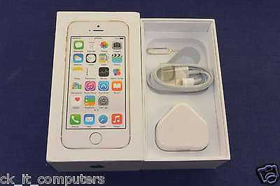 Apple iPhone 5S Gold /Original Box & Accessories - UK Vat Inc -FreePost