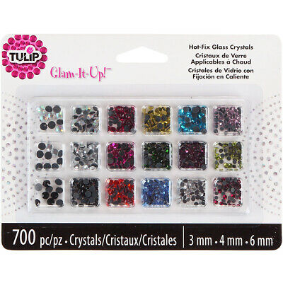 I Love To Create Tulip Glam-It-Up! Hot-Fix Glass Crystals 700/Pkg-Assorted Color