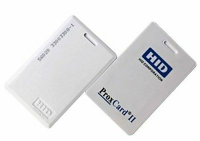HID 1326 ProxCard II Access Control Cards 26-Bit 125 kHz 100 Pack 1326LSSMV
