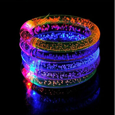 10 Pcs Led Bracelet Color Changing Bangle Party Blinking Glow in the dark Light