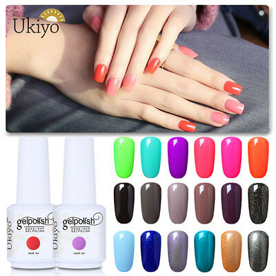 Ukiyo Classic Range 15ml Soak Off UV Gel Nail Polish No Wipe Top Base Coat UV