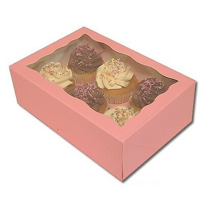 Cupcake Box Boxes Holds 6 Cupcakes Choose quantity PINK