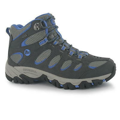 Merrell Ridgepass Mid Womens Grey Gore-Tex Hiking Walking Outdoor Trek Boots
