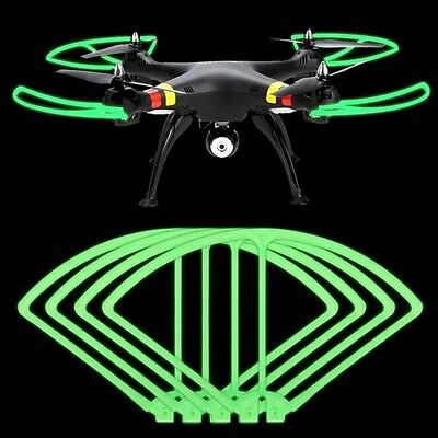 Fluorescent Propeller Protectors for Syma X8 X8C X8W X8G RC Quadcopter Drone