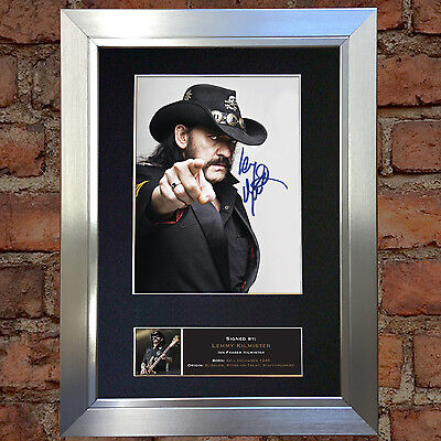 LEMMY KILMINSTER Mounted Signed Photo Reproduction Autograph Print A4 480