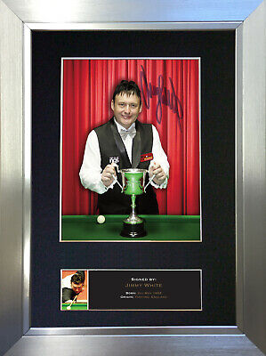 JIMMY WHITE Mounted Signed Photo Reproduction Autograph Print A4 489
