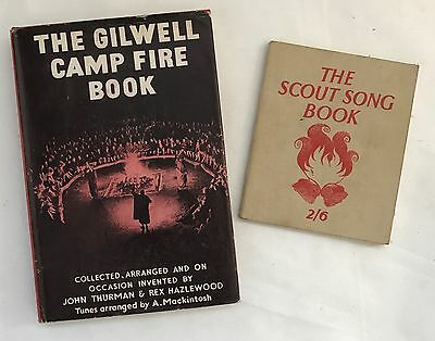 Vintage Gilwell Camp Fire Book & The Scout Song Book Words & Sheet Music