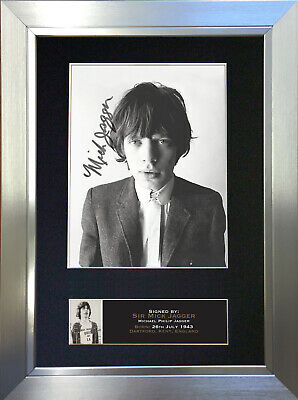 MICK JAGGER Mounted Signed Photo Reproduction Autograph Print A4 644