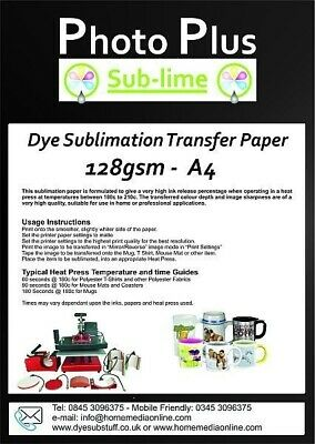 Heavyweight Dye Sublimation Transfer Paper for Ceramics & T-Shirts