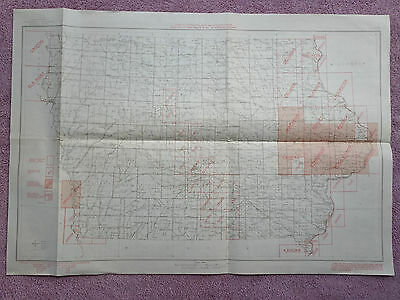 1944  Iowa Dept. Interior Index To Topographic Maps State University Of Iowa