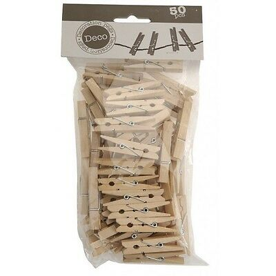 Lot De  100  Petite Pince A Linge 2.5 Cm Decoration  Scrapbooking