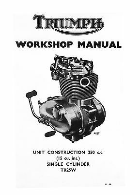 1968-1970 Triumph Trophy TR25W workshop manual