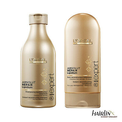 Loreal Absolut Repair Lipidium Shampoo 250 ml + Conditioner 150 ml Serie Expert