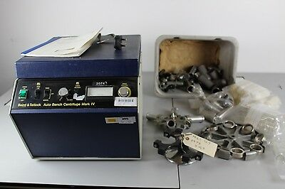 Auto Bench Centrifuge Mark IV w/ accessories, Faulty, Spares and Repairs