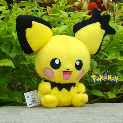 1PC 8'' Pokemon Mini Pikachu Stuffed Doll Pichu Pocket Anime Plush Kid Toy ^^^*
