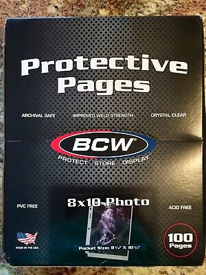 "BCW Photo Protector Sheets, 8x10"" - 50 pack"