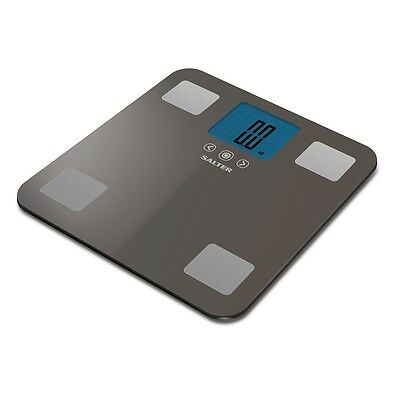 Salter 250kg Max Analyser Electronic Digital Bathroom Scales Silver 9179 SV3R