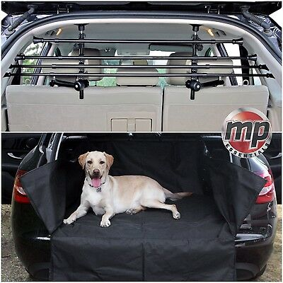 Heavy Duty Car Boot Liner Mat & Bumper Protector + Pet Dog Barrier Bar Guard #3