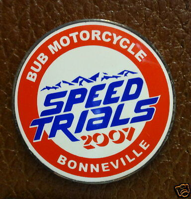 Collector Pin...2007 SPEED TRIALS BUB Motorcycles Bonneville