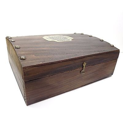 Vintage Old Grand Dad 114 Whiskey Box Wooden Case With Latched Lid