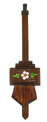 New Painted Floral Chalet Style Cuckoo Clock Pendulum - Made in Germany (CC-361)