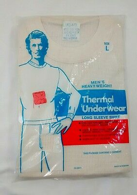 NOS Vintage Thermal Long Underwear Heavyweight Shirt Men's L 42-44 Romania