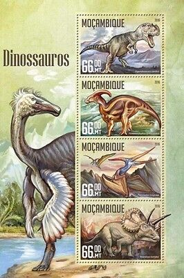 Z08 IMPERFORATED MOZ16203a MOZAMBIQUE 2016 Dinosaurs MNH