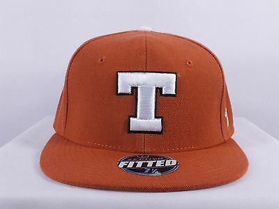 Texas Longhorns Ncaa Adult 7 1/4, 7 1/8, 7 3/4, 7 5/8 Fitted Cap By Zephyr F79