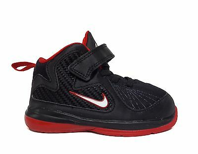 a3feb82402e62 Nike Toddlers Boys LEBRON 9 TD Shoes Black Red 472663-001 a5