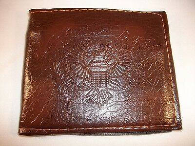 Kids Brown Bi-Fold Wallet with Embosed Eagle