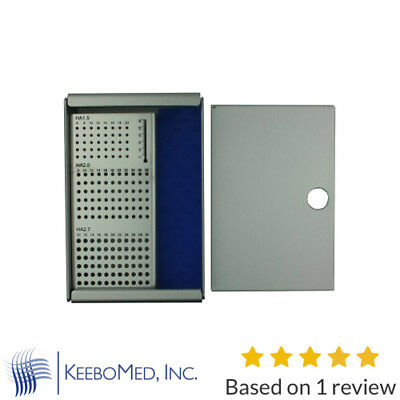 Small Orthopedic Screw Rack, Case With Cover for 1.5mm - 2.0mm - 2.7mm Screws