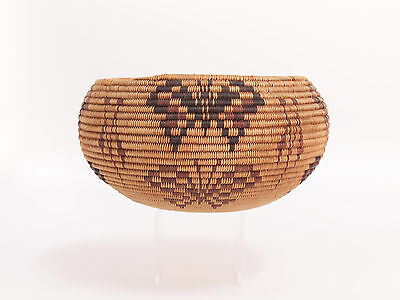 Famed TOOTSIE DICK SAM Washo / Washoe Butterfly Motif Basket  c1920 -Cohodas Doc