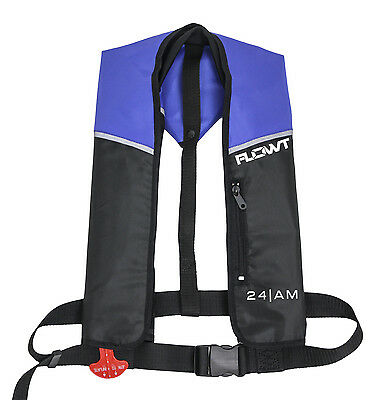 Flowt A/M-24 Automatic + Manual Inflatable Life Jacket Lifevest Blue PFD NEW