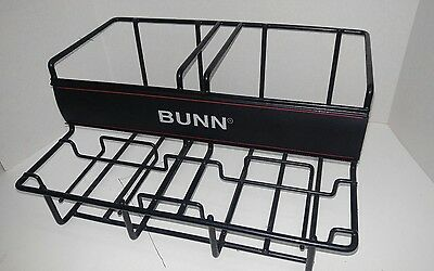 BUNN 35728 2 Airpot Rack, Rubber Coated Stainless Steel