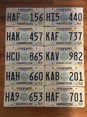 10 Mississippi License Plates Car Tags Crafts Art Bulk Lot Hobby Collector Lot 4