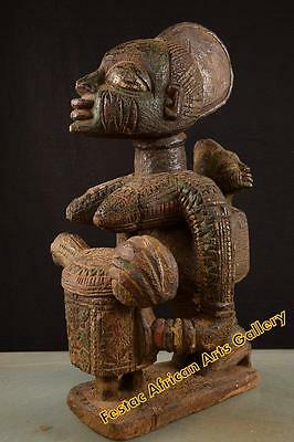 Old Epa Yoruba With Offering Bowl Nigeria Africa fes-043