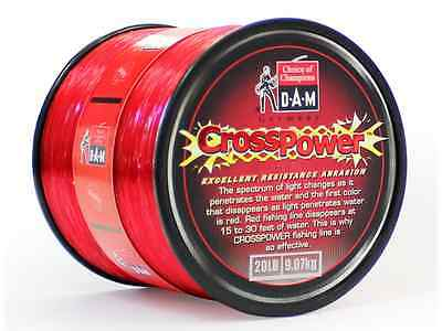 30Lb  607Yds DAM CROSSPOWER Red Spec Monofilament Line