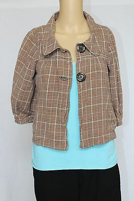 Ivy Jane Boutique Women Blouse and jacket lot pretty blue and brown size small