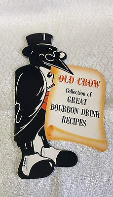 Vintage Old Crow Collection of Great Bourbon Drink Recipes - 11 Page Booklet