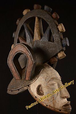 Articulate Wheeled Big Igbo Mask Nigeria Africa Fes-050
